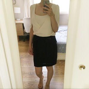 Tibi 100% Silk Mini Dress Butterfly Sleeve